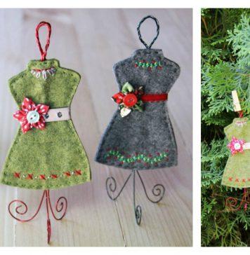 Dress Form Ornament Free Sewing Pattern