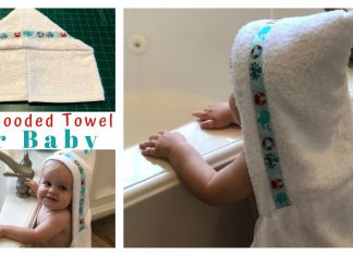 Easy Hooded Towel Free Sewing Pattern