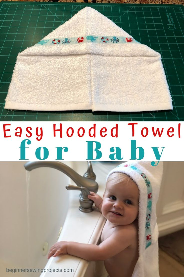 Easy Hooded Towel Free Sewing Pattern