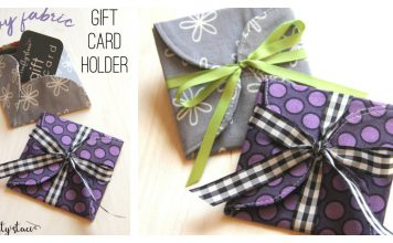 Fabric Gift Card Holder Free Sewing Pattern