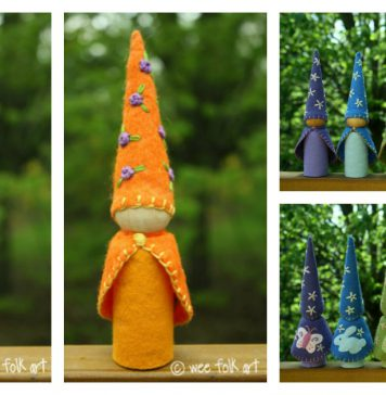 Felt Gnome Doll Free Sewing Pattern