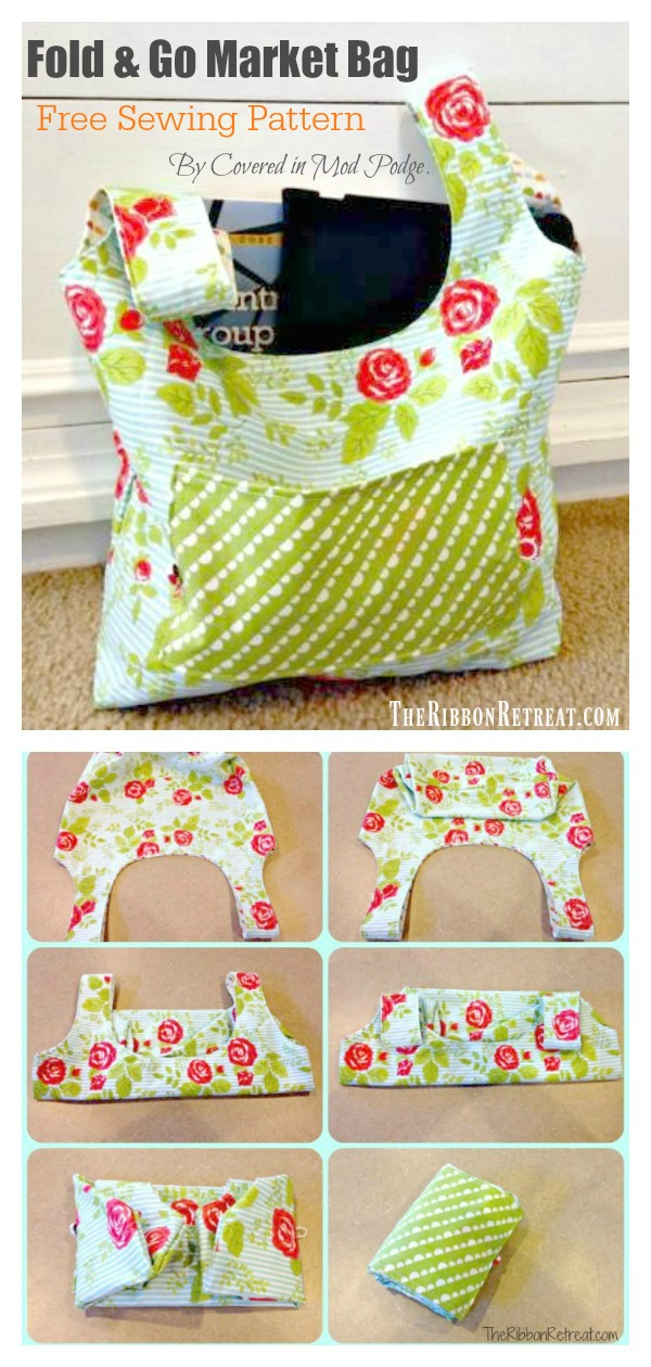 Fold and Go Market Bag Free Sewing Pattern