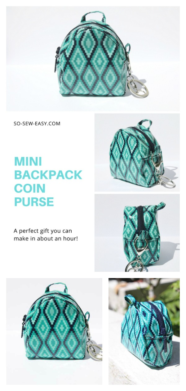 Mini Backpack Coin Purse Free Sewing Pattern