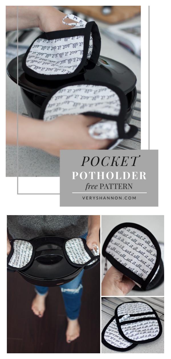 Pocket Potholders Free Sewing Pattern