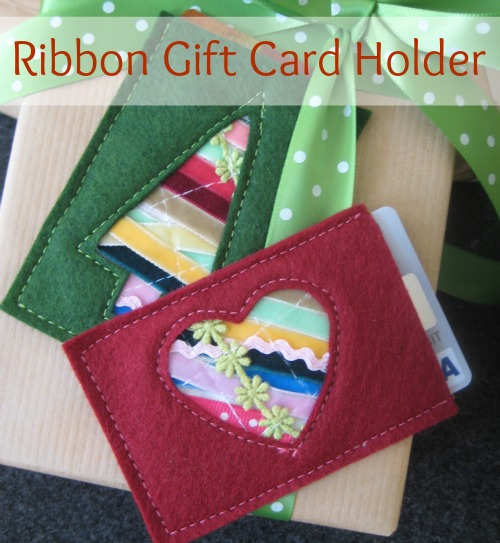 Ribbon Fabric Gift Card Holder Free Sewing Pattern