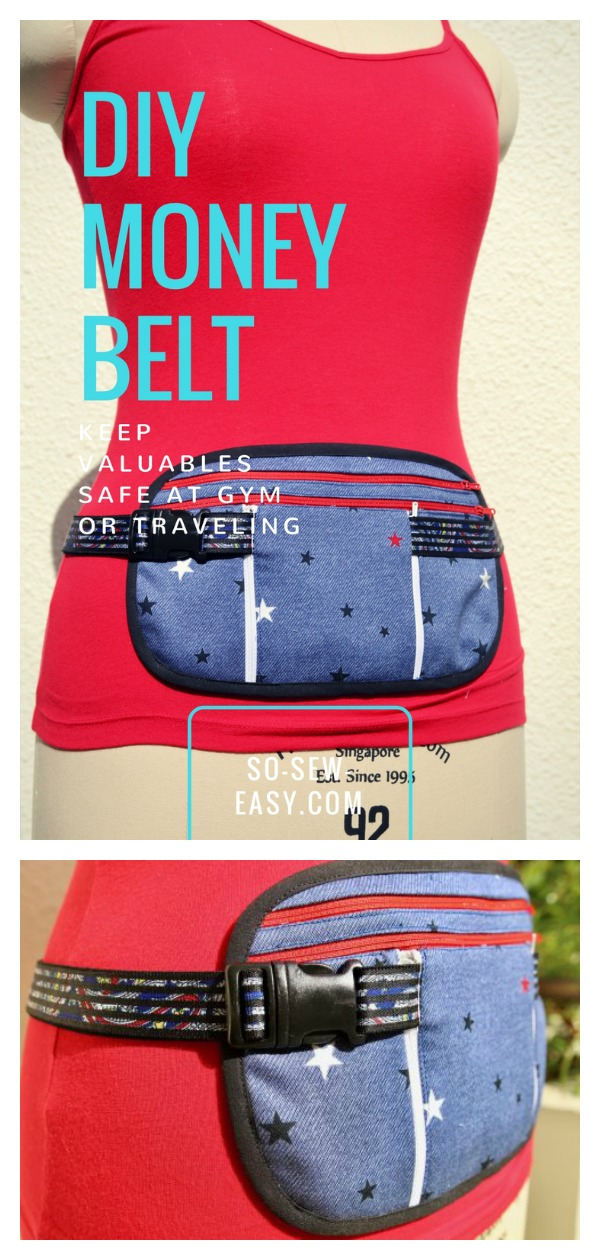 Running Belt Travel Belt or Money Belt with Pouch Free Sewing Pattern
