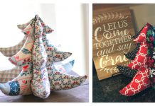 Stuffed Fabric Christmas Tree Free Sewing Pattern