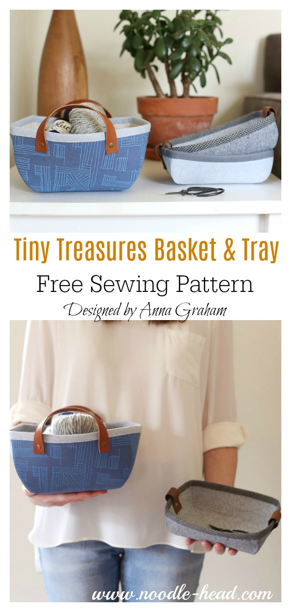 Tiny Treasures Basket and Tray Free Sewing Pattern