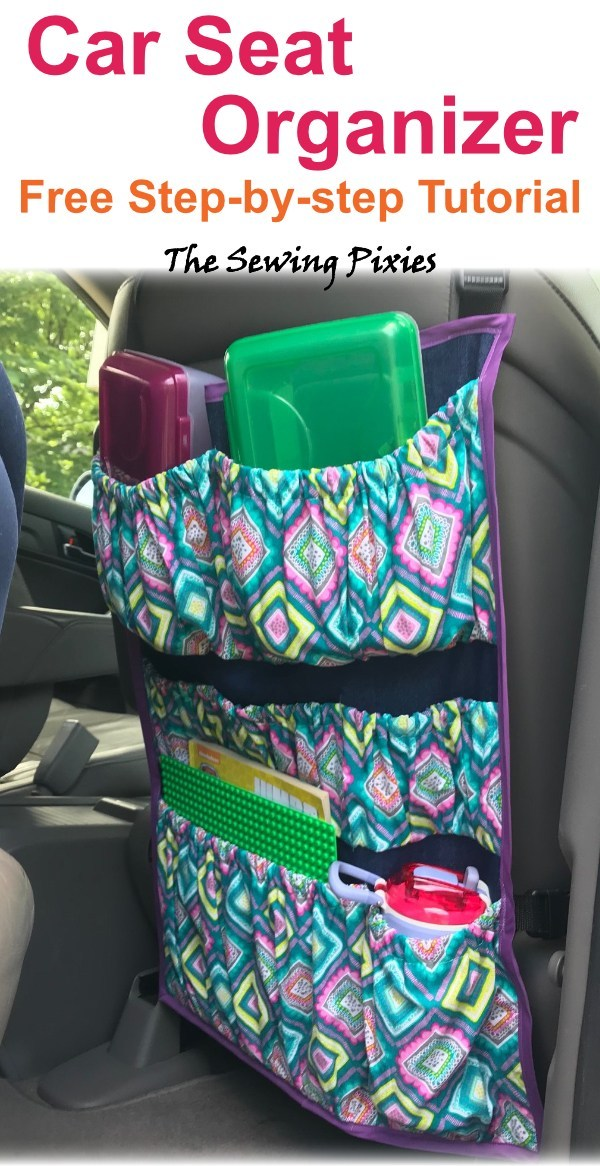 Car Seat Organizer Free Sewing Pattern