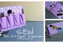 A-Frame Organizer Free Sewing Pattern