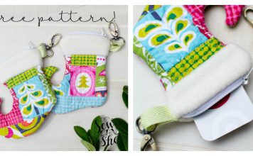 Christmas Stocking Zipper Pouch Free Sewing Pattern