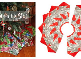 Christmas Tree Skirt Free Sewing Pattern