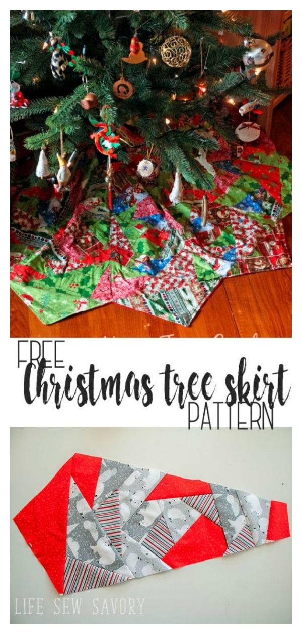Christmas Tree Skirt Free Sewing Pattern
