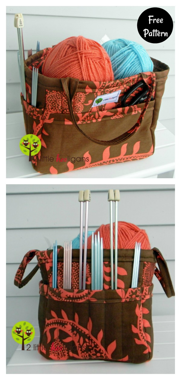 Crafts Organizing Tote Bag Free Sewing Pattern