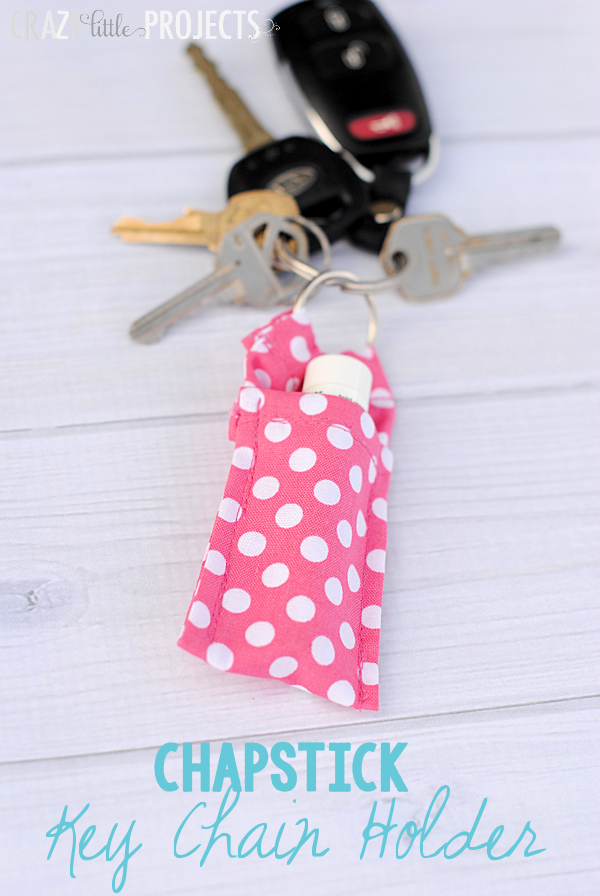 Easy Chapstick Holder Keychain Free Sewing Pattern