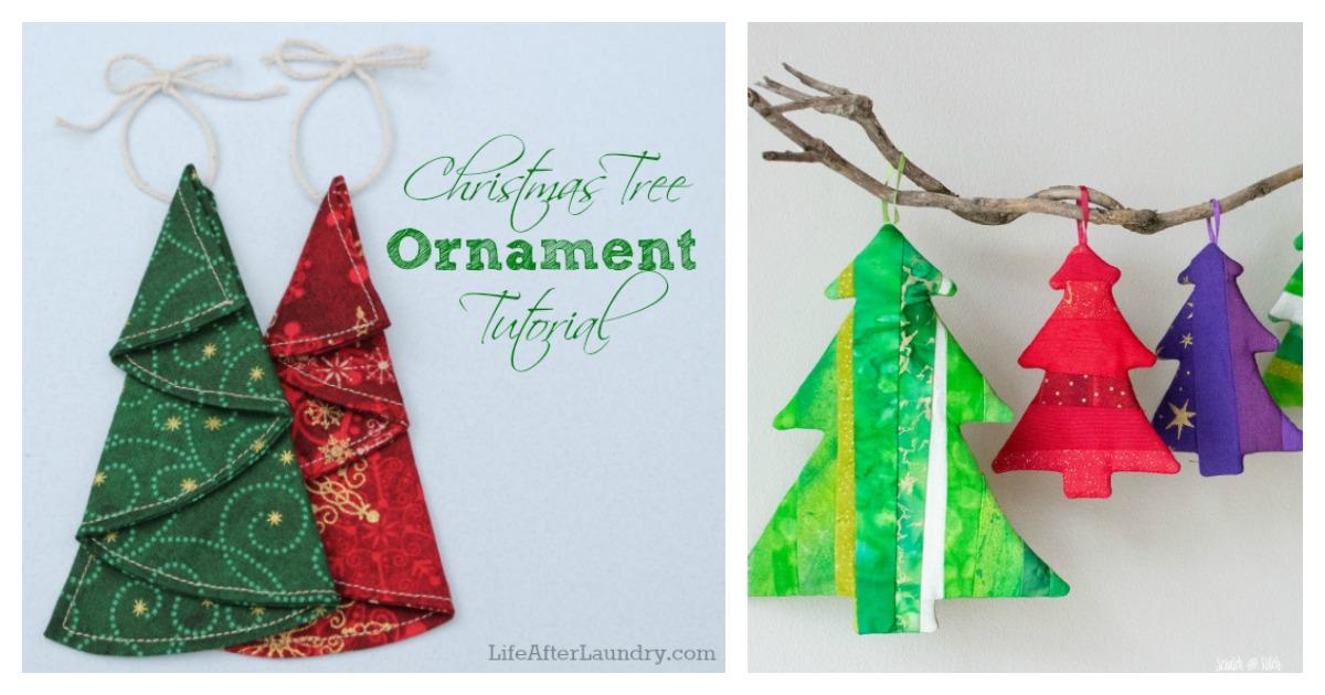 Fabric Christmas Tree Ornament Free Sewing Pattern