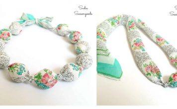 Fabric Covered Beads Necklace Free Sewing Pattern