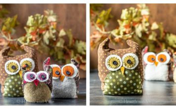 Fabric Owls Free Sewing Pattern