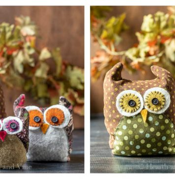 Fabric Owls Free Sewing Pattern