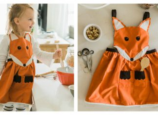 Fox Apron Free Sewing Pattern