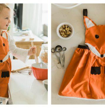 Fox Apron Free Sewing Pattern