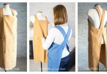 Simple Cross Back Apron Free Sewing Pattern