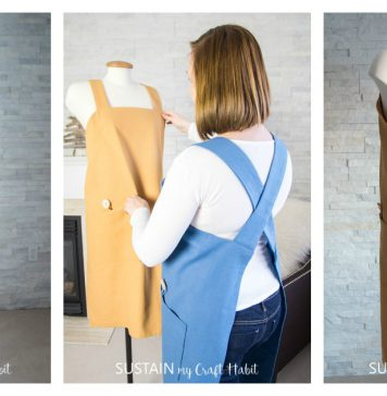 Simple Cross Back Apron Free Sewing Pattern