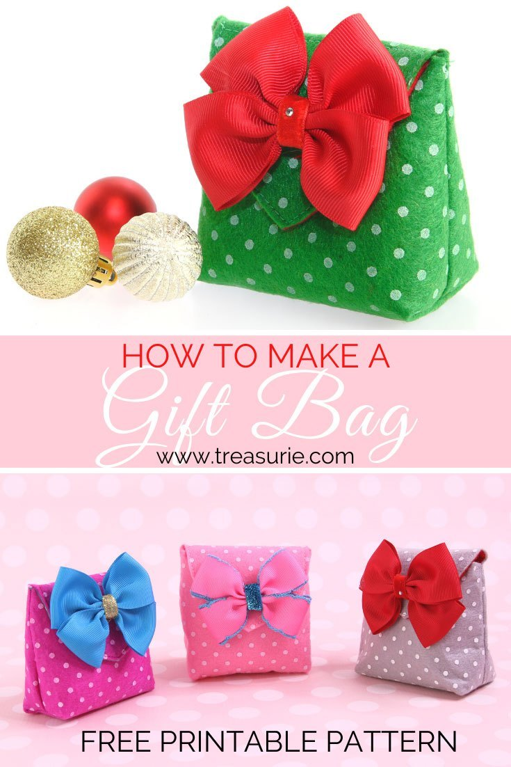 Small Felt Gift Bag Free Sewing Pattern