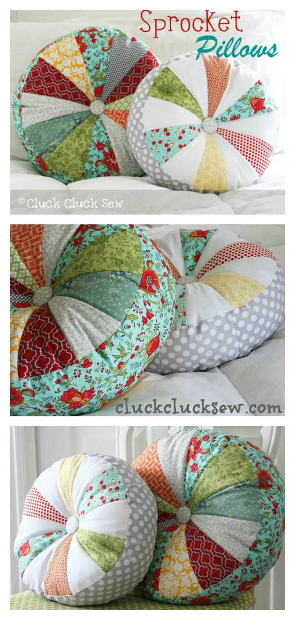 Sprocket Pillows Free Sewing Pattern