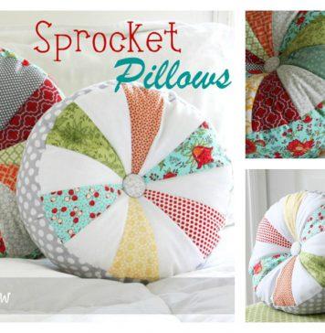 Sprocket Pillows Free Sewing Pattern