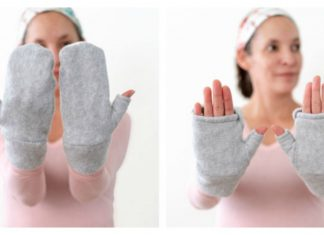 Convertible Fingerless Mittens Free Sewing Pattern