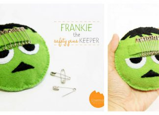 Felt Frankenstein Safety Pin Pincushion Free Sewing Pattern