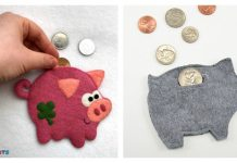 Felt Piggy Banks Free Sewing Pattern
