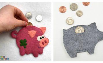 Felt Piggy Banks Free Sewing Pattern
