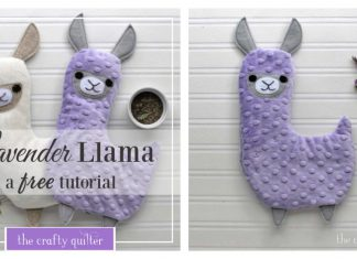 Lavender Llama Hot Cold Plush Free Sewing Pattern