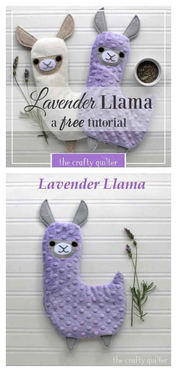 Lavender Llama Hot Cold Plush Free Sewing Pattern