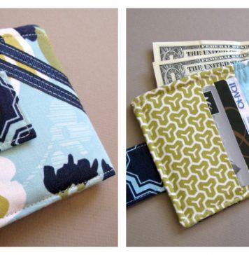 Bi-fold Wallet Free Sewing Pattern
