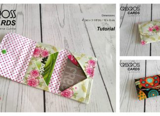 Crisscross Cards Wallet Free Sewing Pattern