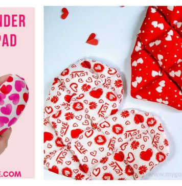 Easy Heart Shaped Heating Pad Free Sewing Pattern