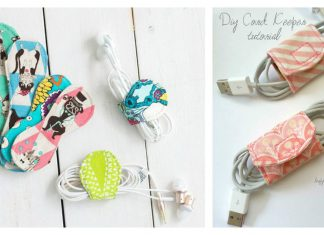Fabric Cord Keeper Free Sewing Pattern