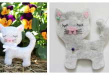 Felt Kitty Cat Free Sewing Pattern and Template