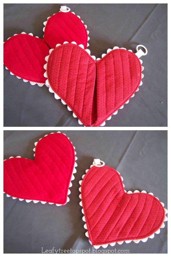 Heart Shaped Hot Pad Free Sewing Pattern