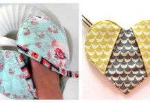 Heart Shaped Potholder Free Sewing Pattern