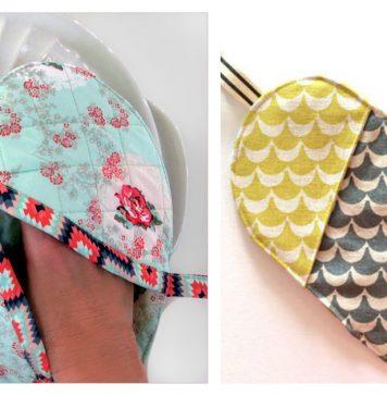 Heart Shaped Potholder Free Sewing Pattern