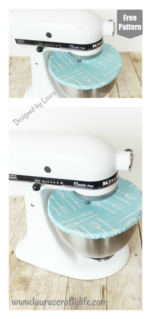 KitchenAid Mixer Bowl Cover Free Sewing Pattern
