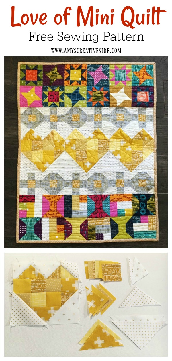 Love of Mini Quilt Free Sewing Pattern