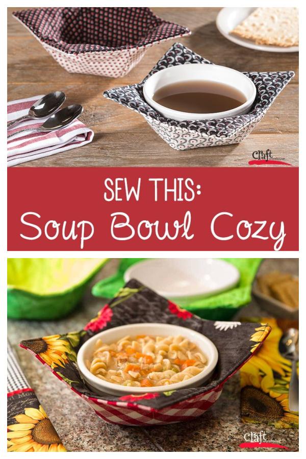 Soup Bowl Cozy Free Sewing Pattern