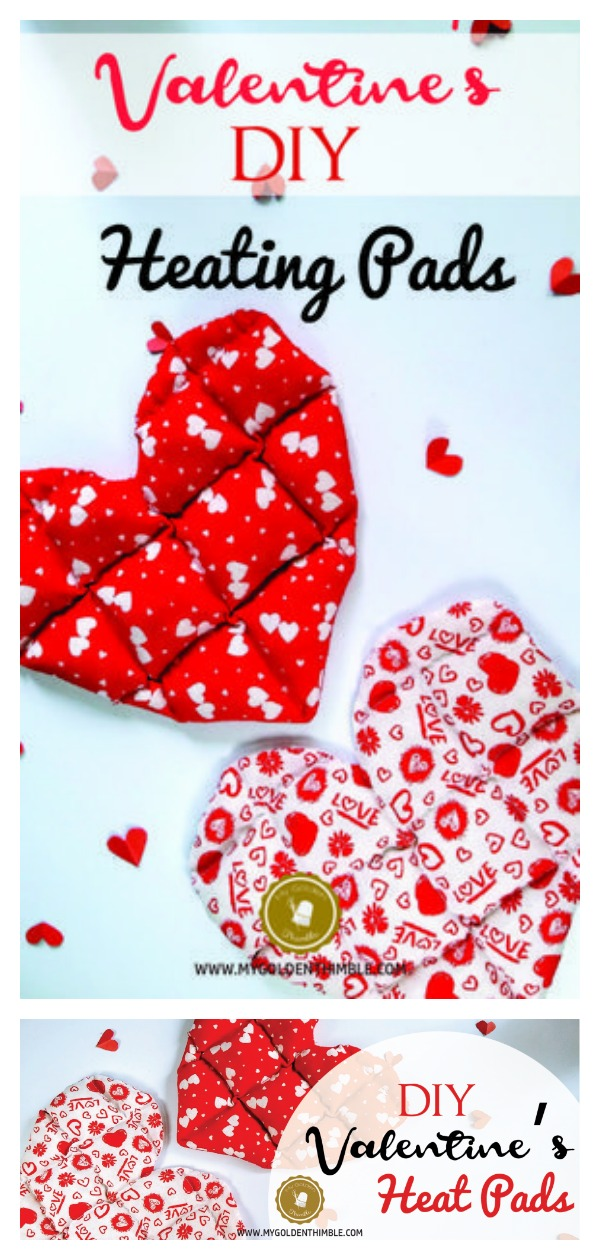 Valentine's DIY Gift Easy Heart Shaped Heating Pad Free Sewing Pattern