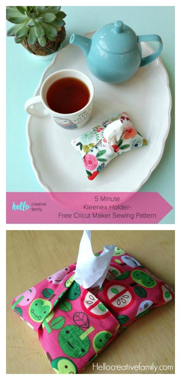 5 Minute Kleenex Holder Free Sewing Pattern