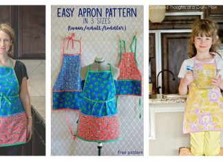 Apron in 3 Sizes Free Sewing Pattern